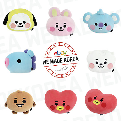 BT21 Baby Character Face Cushion Pillow 7types Official K-POP Authentic Goods