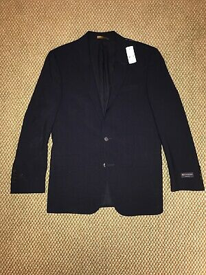 NWT $499 Brooks Brothers Classic Two Button Navy Blue Blazer - Size 38 Regular