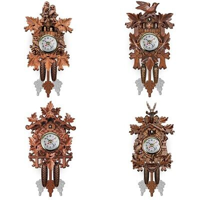 Vintage Wall Clocks Black Forest Auto Swing Hand-Carved Cuckoo Clock Home Decor