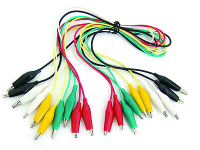 10 Pcs and 5 Colors Test Lead & Alligator Clip Set with 20.5 inches Length Wires