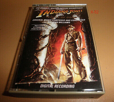 INDIANA JONES and the TEMPLE OF DOOM soundtrack vintage Cassette Tape INDY 2