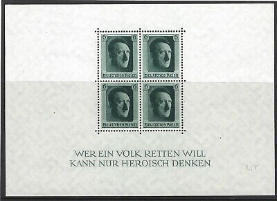GERMANY 1937 Hitler's Culture Fund & 48th Birthday Mini-Sheet SG MS635 MNH SCANS