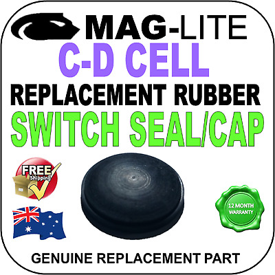 Maglite Switch Seal Cap Rubber Fits C & D Cell Genuine Replacement Part Au