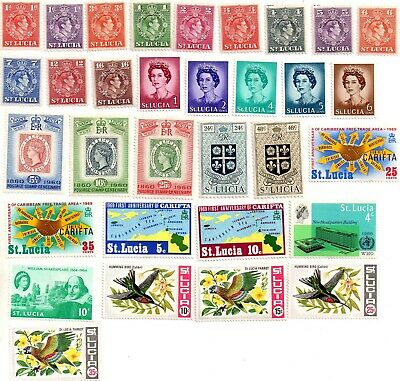 commonwealth stamps, st. lucia