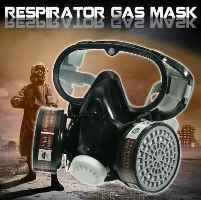 Respirator Gas Face Mask Safety Chemical Dustproof Filter Military Eye Goggle