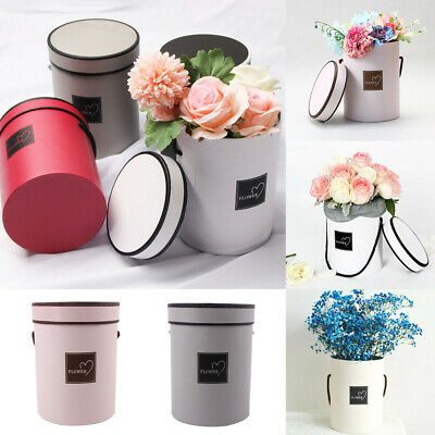 Round Flower Boxes Living Vases Florist Box Plant Handheld Bouquet Paper Boxes