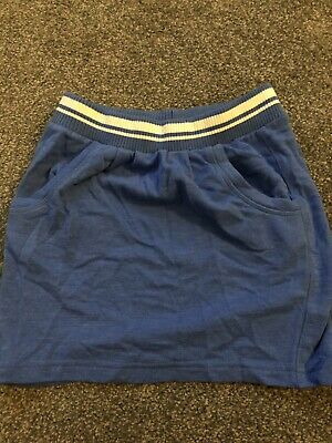 Next Girls Blue Cotton Sports Style Skirt Age 9 Years