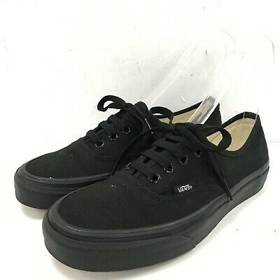VANS Black Casual Canvas Waffle Sole Lace Up Trainers Shoes Women UK 4.5 511669