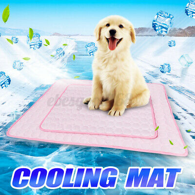 Pink Pet Summer Cooling Mat Cold Gel Pad Comfortable Cushion For Dog Cat Puppy