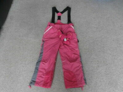CRANE snow 6 year PINK water wind resistant snow ski trousers salopettes