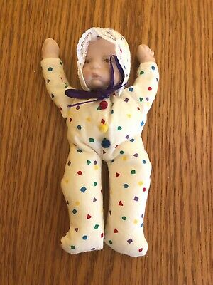NEW Handmade Girl Beanie Baby Hand Painted Ceramic Hands Face - Shapes #12