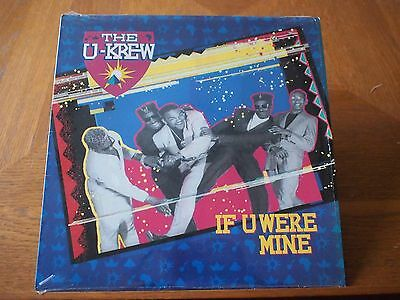 "THE U-KREW IF U Were Mine VINYL 12"" Single 1989 HIP HOP Rap RnB ENIGMA Records"