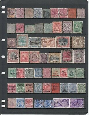 Mixed British Empire/Commonwealth selection of 55 stamps - see scan