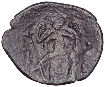Michael VIII Palaeologus, AE Trachy, 1261-1282. Emperor supported by Archangel