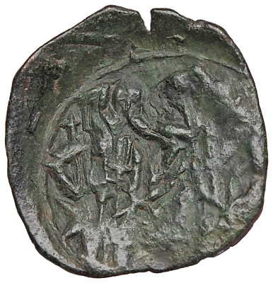 Andronicus II Palaeologus, with Michael IX. 1282-1328. Æ Trachy. Thessalonica