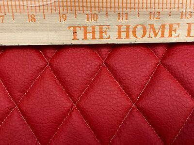 RED Quilted faux leather vinyl upholstery auto headliner headboard fabric