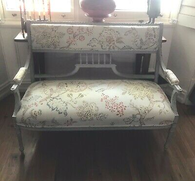 Antique French Settee Restored and Recovered