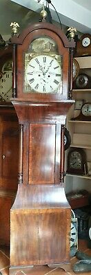 Antique 8 Day Grandfather Clock by J B Blackburn, Gateshead - Delivery Arranged