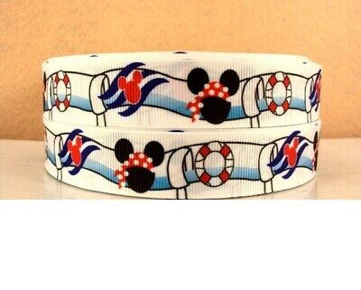 Grosgrain 7/8 Inch Minnie Mouse Mickey Ribbon For Hair Bows Diy Crafts