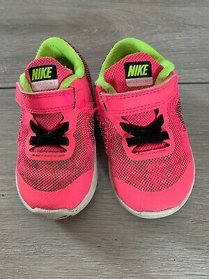 02 Nike Infant Girls Pink Trainers Size Uk 5.5