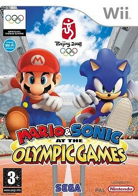 Mario & Sonic At The Olympic Games Nintendo Wii Kids Game