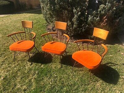 Vintage Mid Century Modern Richard McCarthy Arm Chairs 3