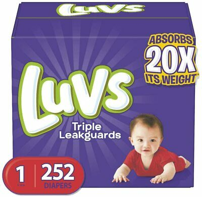 NEW LUVS Ultra Leakguards Baby Diapers Size 1, 2, 3. 4. 5, 6 CHEAP!!!