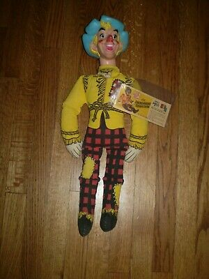 Vintage The Checkerboard Squarecrow Doll & Booklet