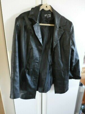 LNC New York & Co black glove leather jacket coat lined xl