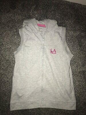 Girls Grey sleeveless Hoodie LA gear BNWOT Age 11 To 12