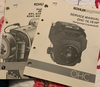 Kohler Engines Service Manual Lot OHC 16,18 K Series