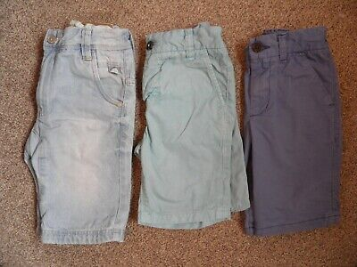 3 Pairs of boys Next Cotton Shorts Aged 5 Years