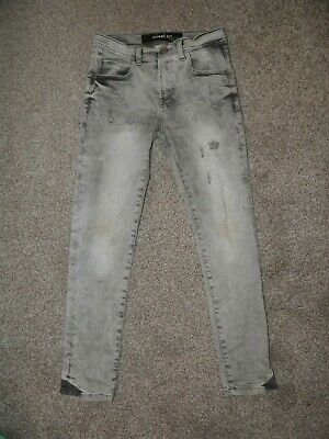 Boys Zara Grey Skinny Fit Distressed Jeans Aged 8