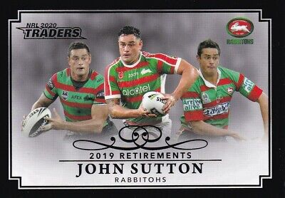 2020 Nrl Traders Retirement Parallel - Rp12 John Sutton Rabbitohs - #25 Of 37