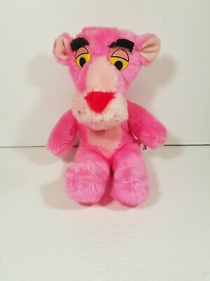 """Vintage 1980 11"""" Pink Panther Plush Doll United Artist Mighty Star"""