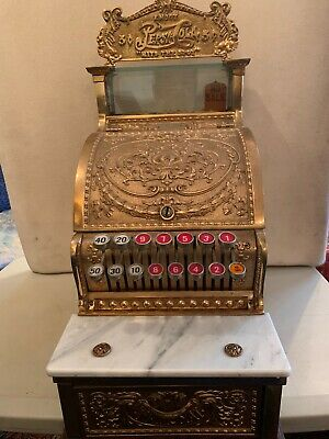 Gorgeous Brass National Cash Register#312 Works Excel  Candy Store Size 💝Sweet!