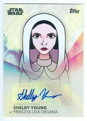 """Shelby Young """"Princess Leia Organa Autograph Card"""" Women Of Star Wars 2020"""