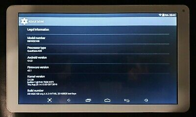 """Tablet Silver 10"""" Quad-Core Android 4.4.2"""