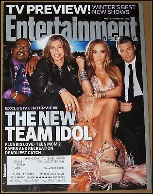 1/14/2011 Entertainment Weekly American Idol Steven Tyler Jennifer Lopez Gervais