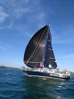 New  BLACK  SPINNAKER         Luff  44.38 f    t Foot     26 ft. 10 in