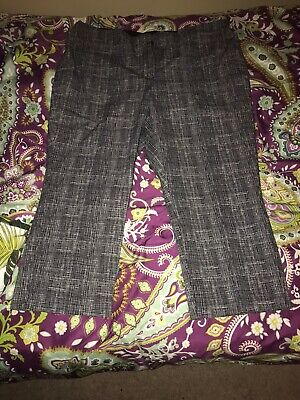 Alfani Size 18 Ankle Pants Black White Stretchy