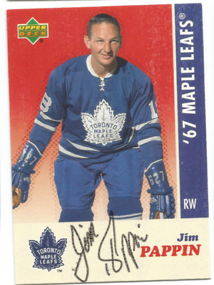 2007 Upper Deck Toronto Maple Leafs Jim Pappin Autograph Card 1967 Stanley Cup