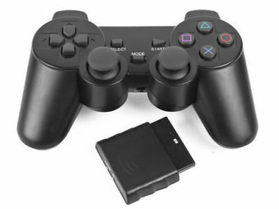 Wireless Black Dual Shock Controller for PS2 PlayStation Joypad Gamepad