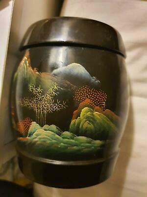 Japanese lacquer ware tea caddy