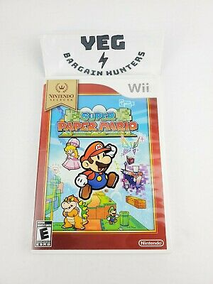 Super Paper Mario (Nintendo Wii, 2007) Complete VG Tested Canadian Seller