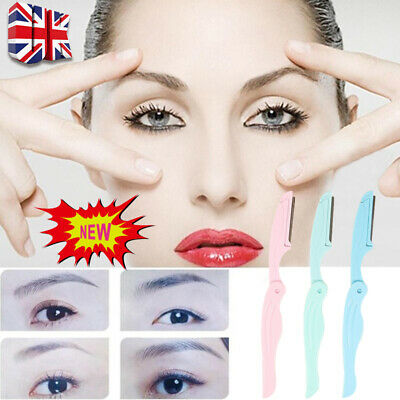 Eyebrow Razor Facial Hair Remover Safety Trimmer Shaper 3 Pack Dermaplaning Tool