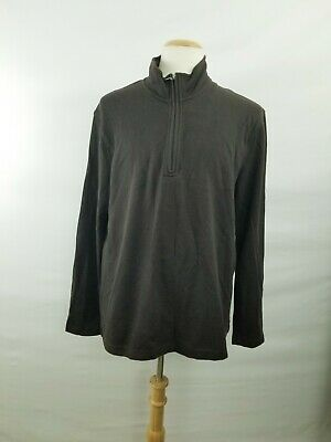 Joe Joseph Abboud Men's Quarter Zip Pullover Brown Long Sleeve Sweater Size XL