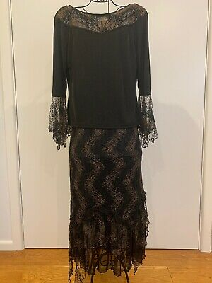 P&I Collection Womens Evening Set Top/Skirt Size14