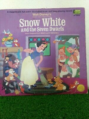 1969 Walt Disney's 11-pg Storybook & 8 Songs From Snow White & the 7 Dwarfs