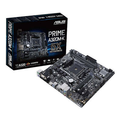 Manufacturer Refurbished ASUS PRIME A320M-K Micro-ATX Motherboard - Motherboard